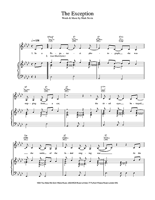The Exception Sheet Music