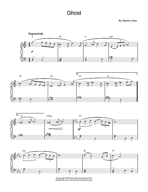 Ghost (Theme) Sheet Music