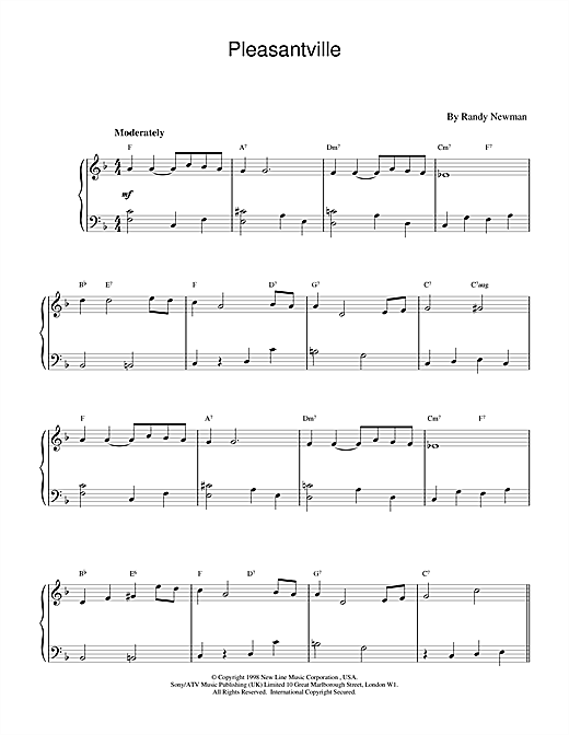 Pleasantville Sheet Music