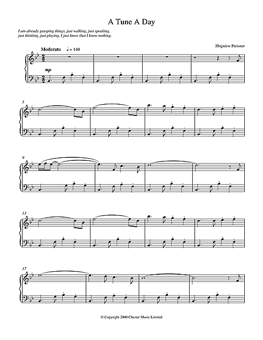 A Tune a Day Sheet Music