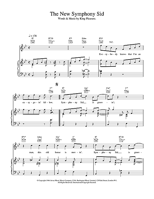 The New Symphony Sid (Piano, Vocal & Guitar (Right-Hand Melody))