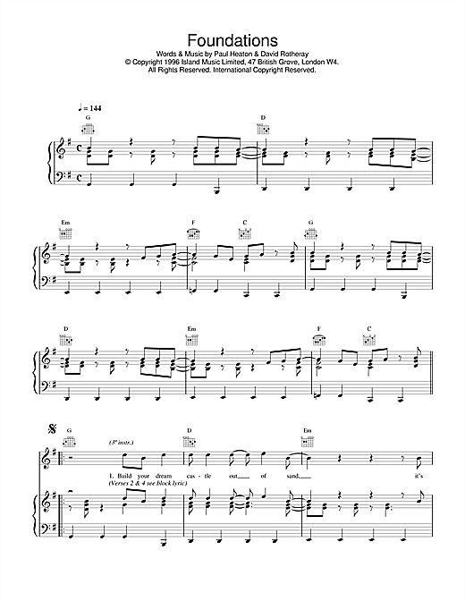 Foundations Sheet Music