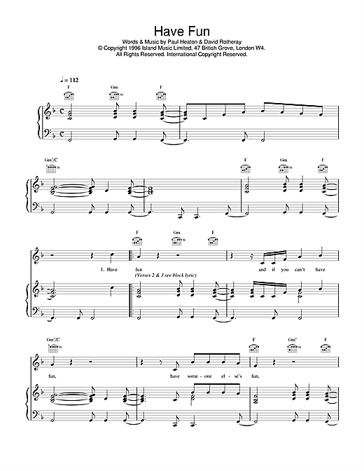 Have Fun Sheet Music