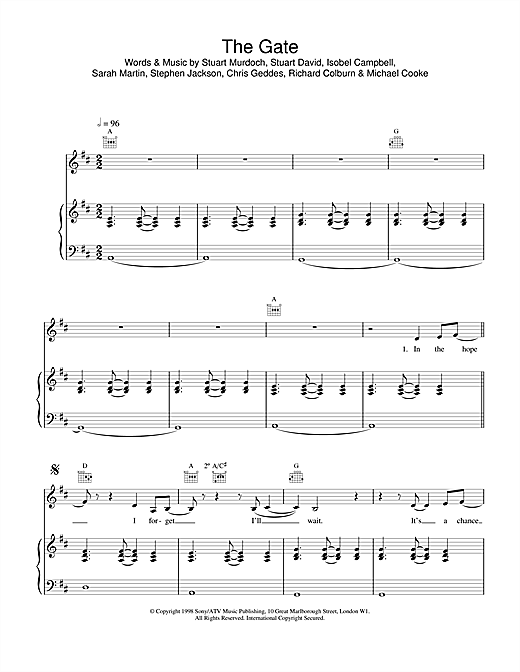 The Gate Sheet Music