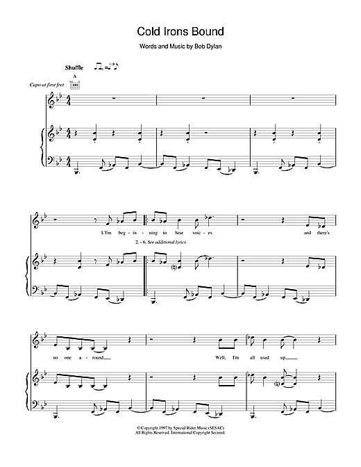 Cold Irons Bound Sheet Music