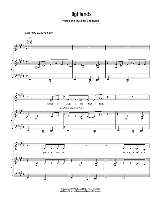 Highlands Sheet Music