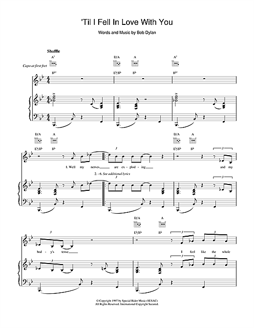 'Til I Fell In Love With You Sheet Music