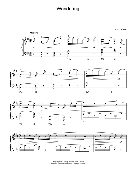 Wandering Sheet Music