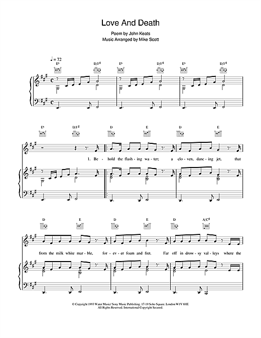 Love And Death Sheet Music