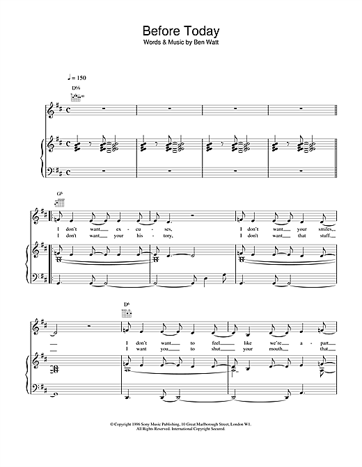 Before Today Sheet Music