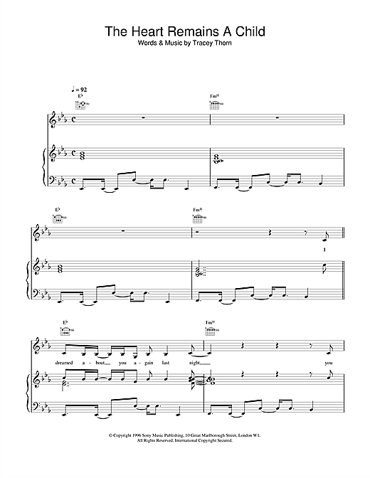 The Heart Remains A Child Sheet Music