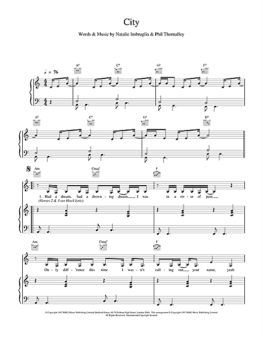 City Sheet Music
