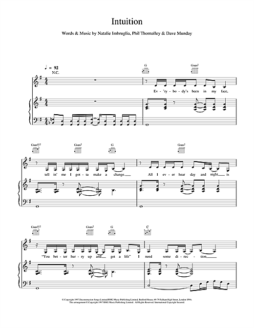Intuition Sheet Music