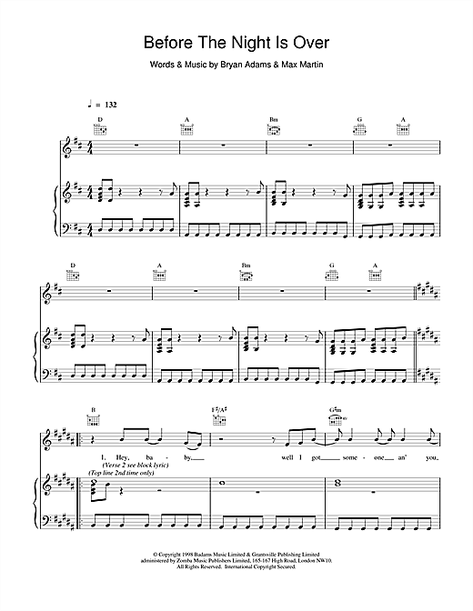 Before The Night Is Over Sheet Music