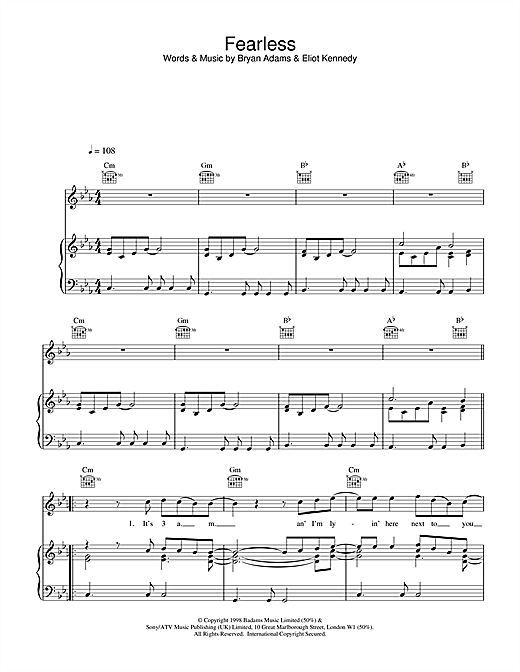 Fearless Sheet Music