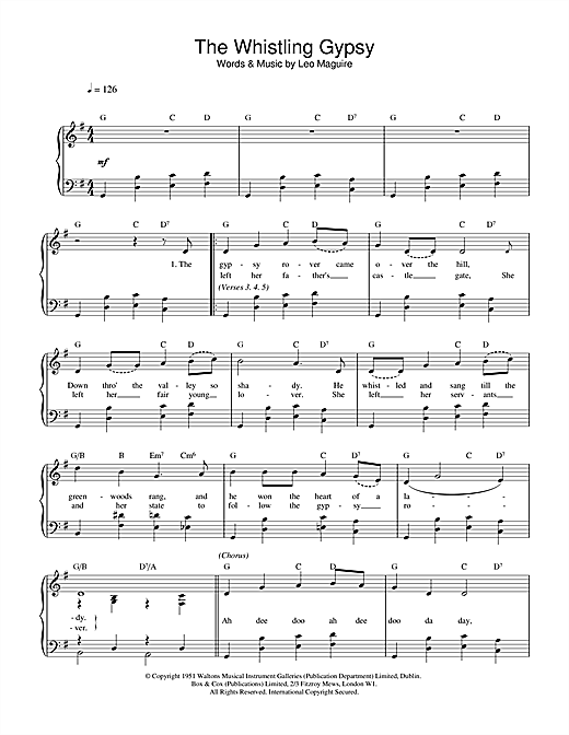 Whistling Gypsy Sheet Music