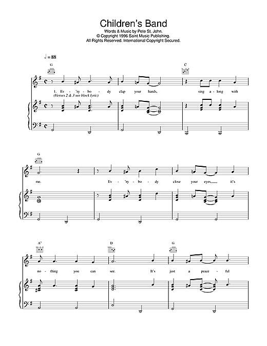 Children's Band Sheet Music