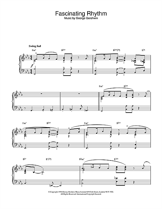 Fascinating Rhythm Sheet Music