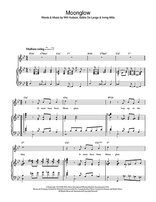 Moonglow Sheet Music