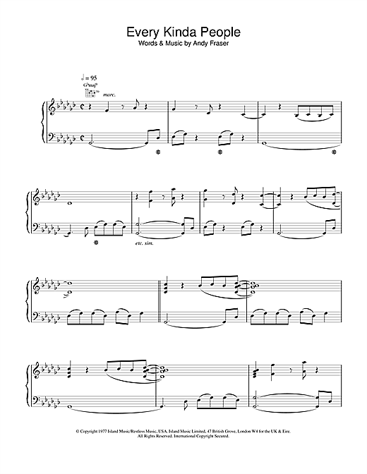 Every Kinda People Sheet Music