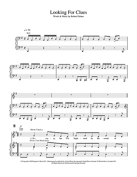 Looking For Clues Sheet Music