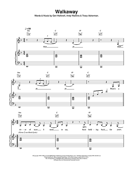 Walkaway Sheet Music