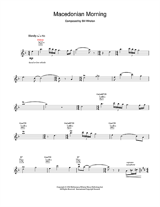 Macedonian Morning (from Riverdance) Sheet Music