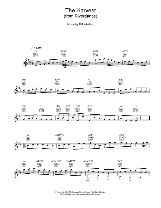 The Harvest (from Riverdance) Sheet Music