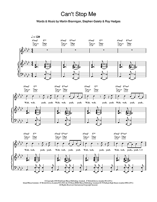 Cant Stop Me Sheet Music