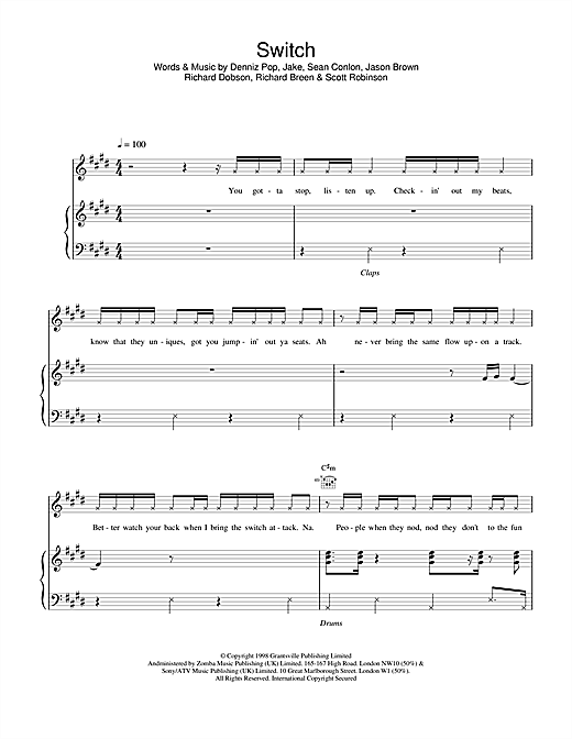 Switch Sheet Music