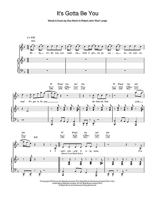 It's Gotta Be You Sheet Music