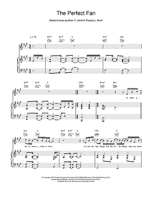The Perfect Fan Sheet Music