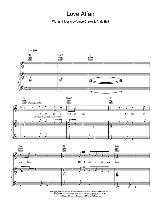 Love Affair Sheet Music