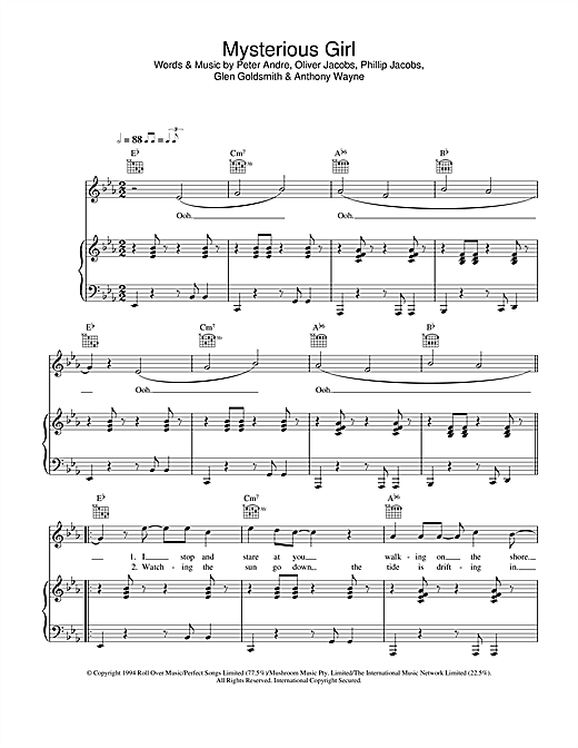 Mysterious Girl Sheet Music