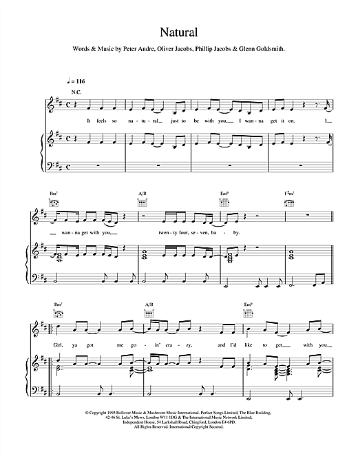 Natural Sheet Music