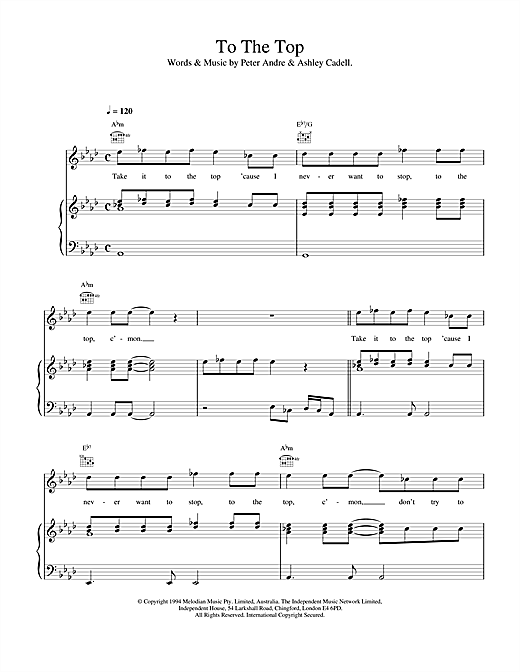 To The Top Sheet Music