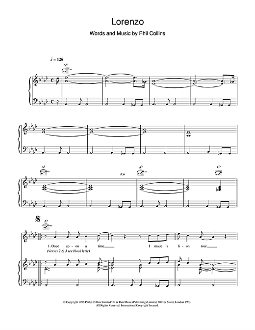 Lorenzo Sheet Music