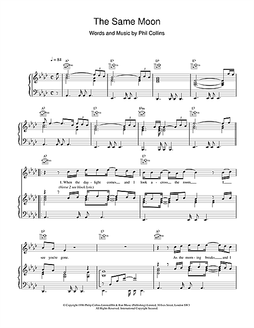 The Same Moon Sheet Music