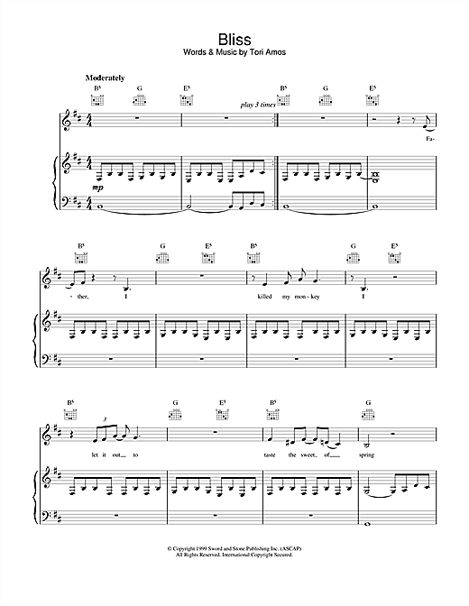 Bliss Sheet Music