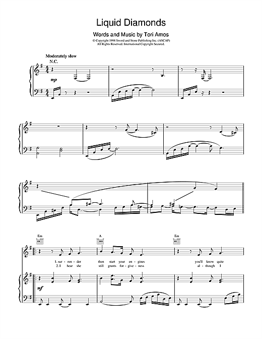 Liquid Diamonds Sheet Music
