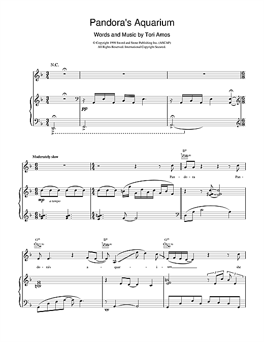 Pandora's Aquarium Sheet Music