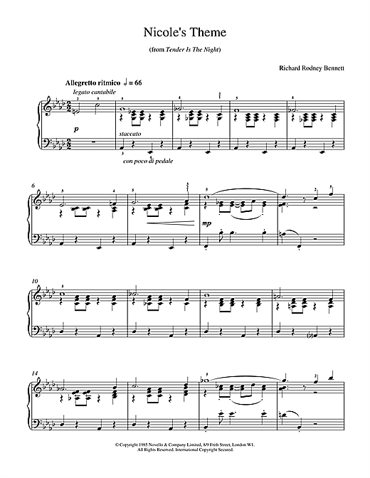 Nicole's Theme Sheet Music