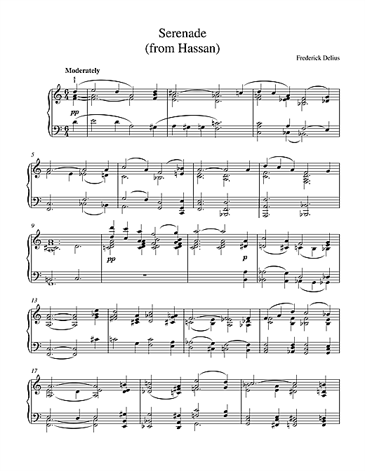 Serenade From Hassan Sheet Music