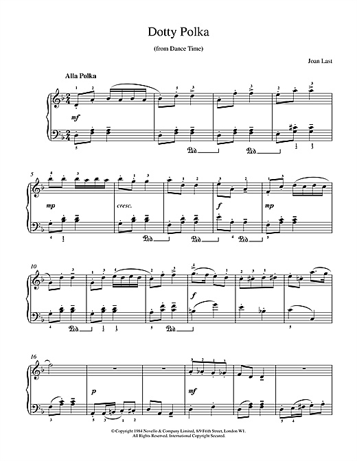 Dotty Polka Sheet Music