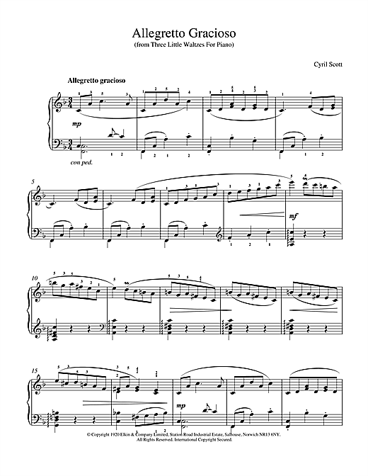 Allegretto Gracioso Sheet Music