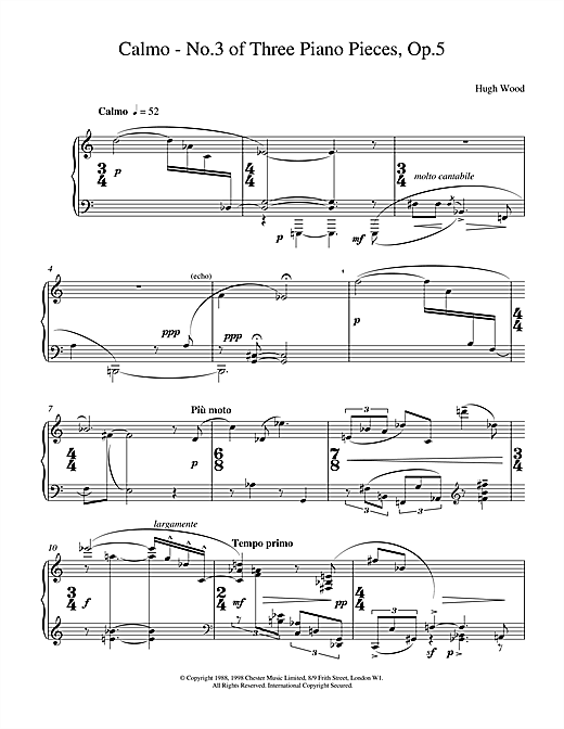 Calmo Op.5 Sheet Music