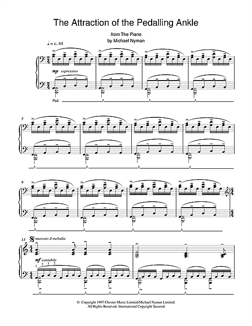 The Attraction of the Pedalling Ankle (from The Piano) Sheet Music