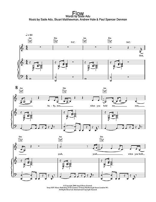 Flow Sheet Music