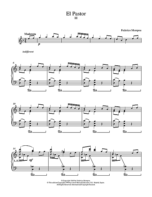 El Pastor III Sheet Music