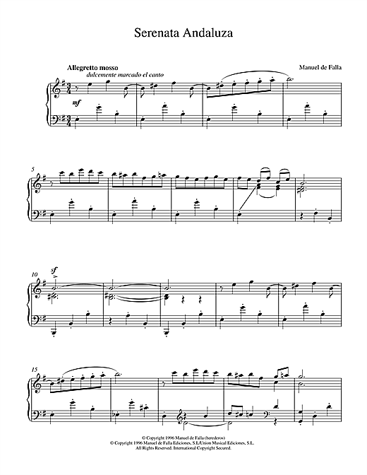 Serenata Andaluza Sheet Music
